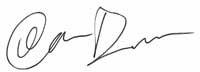 Ian Dunn's Signature - Director of Production