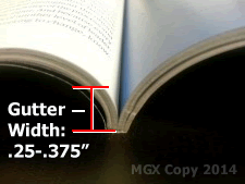 """Recommended gutter width: .25 - .375"""""""